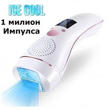 Фотоепилатор IPL, 1 милион импулсa, студен компрес, подмладяване и UV защита на кожата