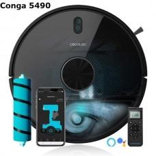 Прахосмукачка Робот CONGA 5490, 10 000PA, картографиране, лазерно сканиране, сухо и мокро почистване