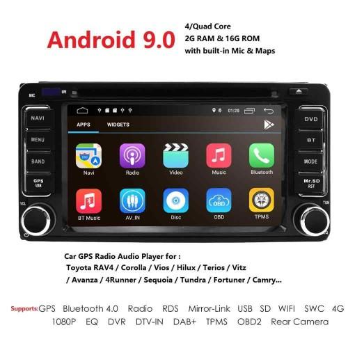 6.2 инча Авто Мултимедия с Андроид за Toyota с Навигация, Камера