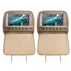 2бр 9 инча вграден Авто Аудио-Видео Плеър с подглавник, игри, DVD, CD