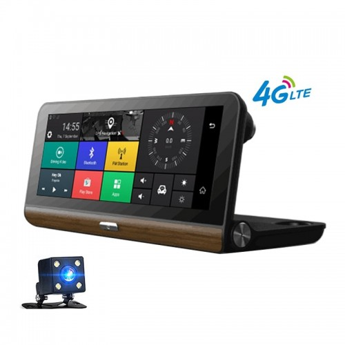8 инча Универсална Авто Мултимедия с Android, 4G,GPS модул, Система за безопасност при шофиране, DVR предна камера, Задна Камера за паркиране, Bluetooth, SD слот, Radio Tuner