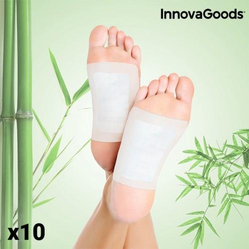 Детоксикиращи Лепенки за Крака InnovaGoods (Пакет от 10)